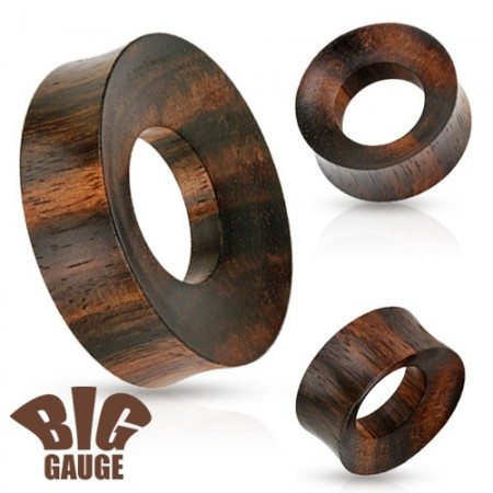 XXL double flared tunnel of iron wood
