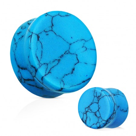 Turquoise natural stone ear plugs