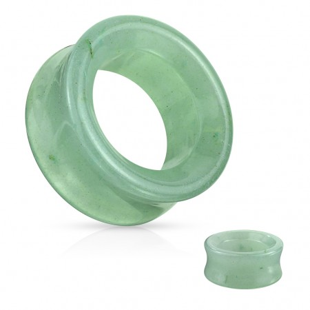 Saddle fit tunnel made of green adventurine stone