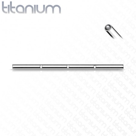 Titanium internally threaded loose bar with 3 threaded holes
