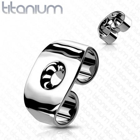 Pair titanium butterfly earring backings