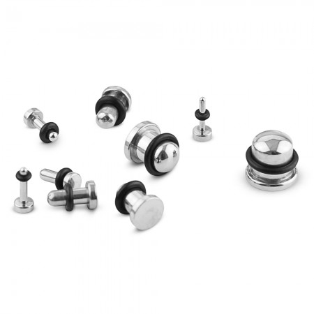 Set plugs for stretching from 14 GA / 1.6 mm up to 00 GA / 10 mm
