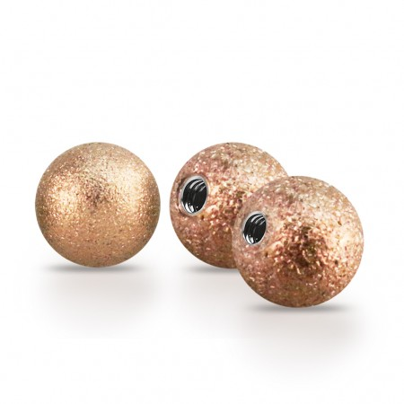 Rose gold screw balls with Sand Blast layer