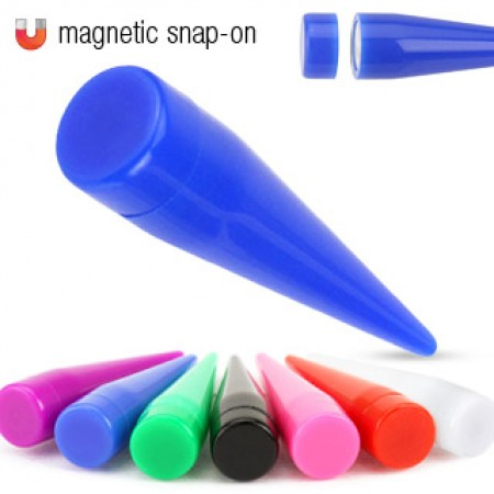 Magnetic clip on fake taper in vibrant colour