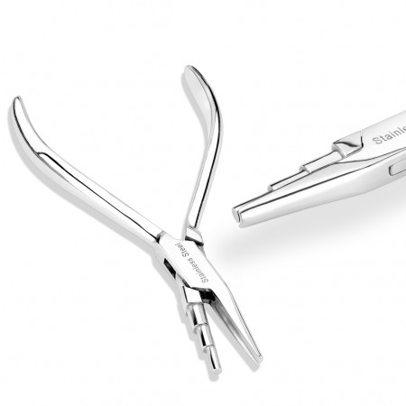 Plier for nose fishtails to nose screws