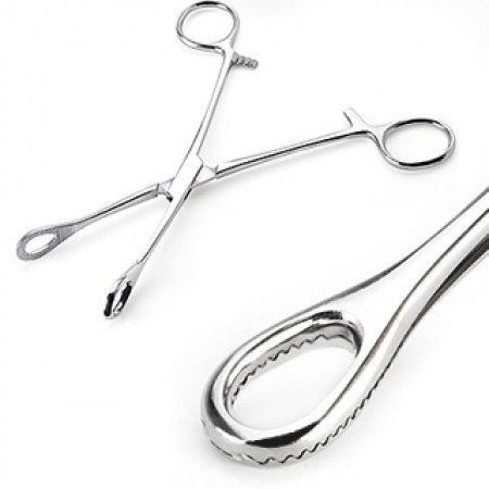 Standard forester forceps for placing piercings