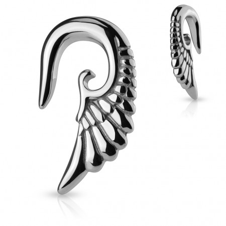 Stirrup hanger with steel angel wing