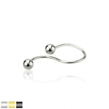 Coloured spiral twist ear piercing with balls