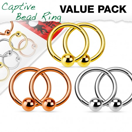 Value pack of ball closure rings