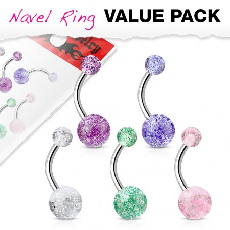 Value pack with 5 UV glitter balls