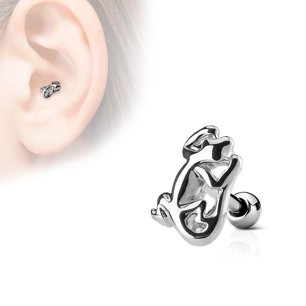 Surgical Steel Tragus Stud With Lizard