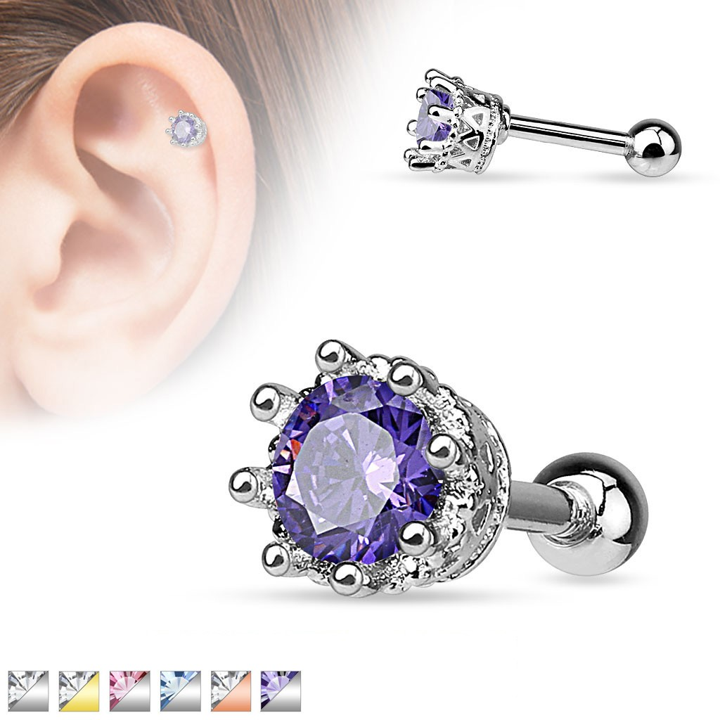 06ab647b5 Helix piercing with crystal in crown