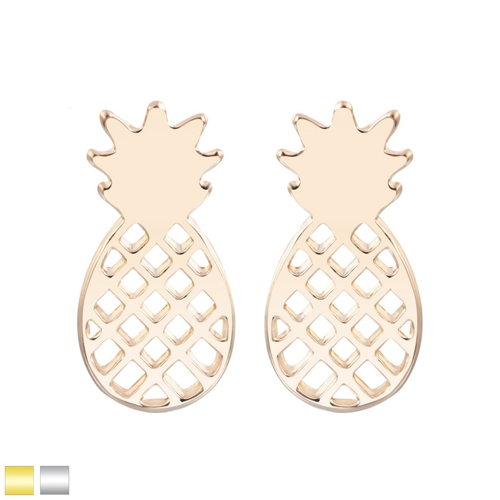 bafdd497f Coloured pineapple shaped stud earring pair. Tap to expand