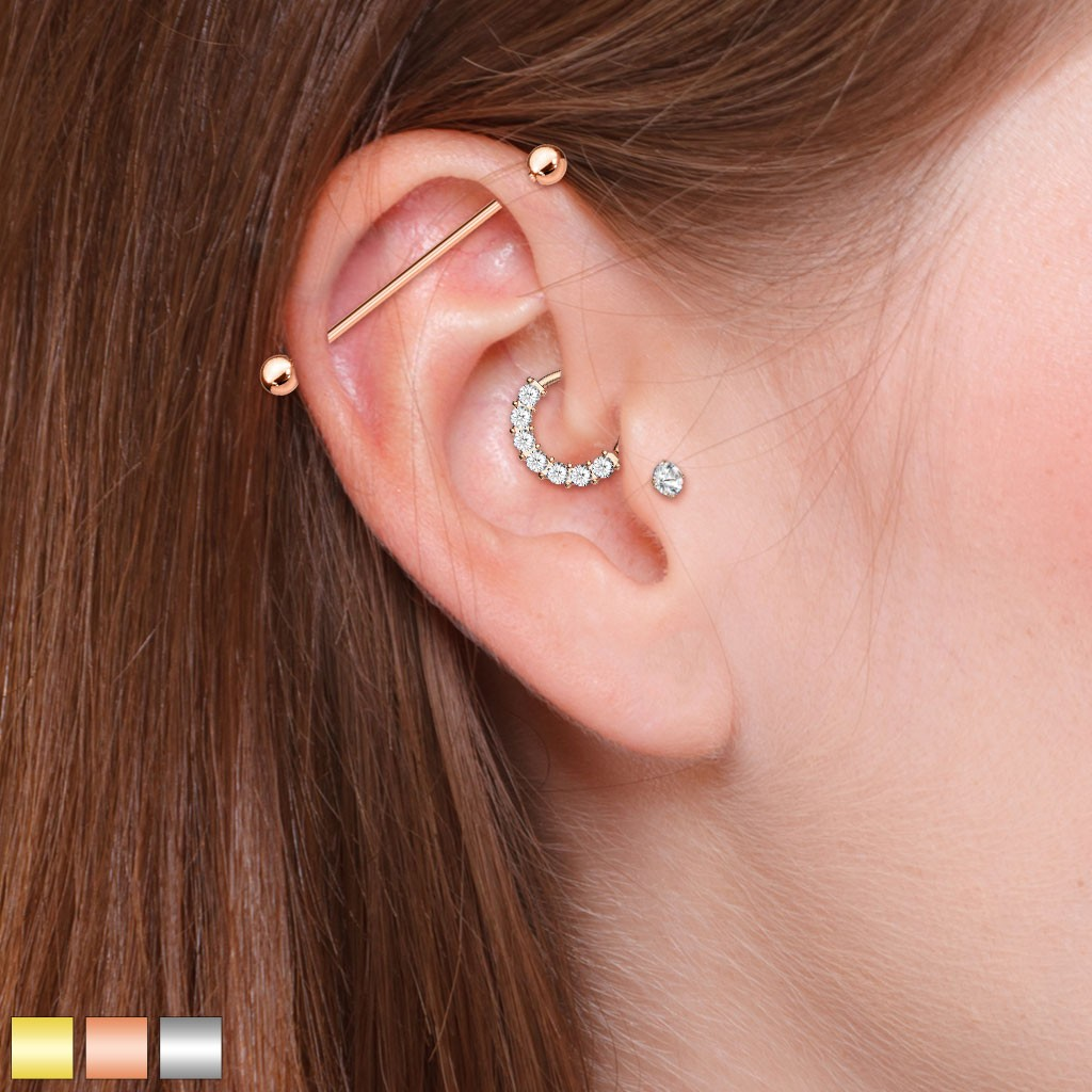 Ear Cartilage Piercing Set For Industrial And Helix Tragus