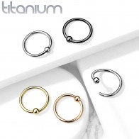 Titanium PVD plated Ball Closure Ring with fixed ball