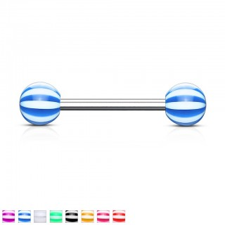 Barbells candy striped balls