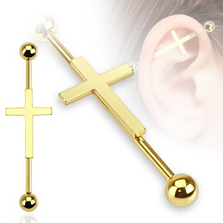 Coloured industrial bar with centred cross