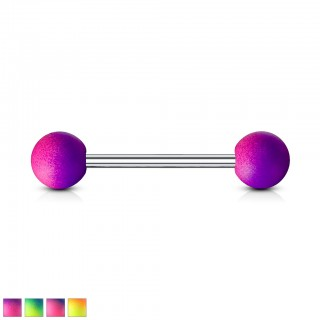 Two tone barbell piercing with rubber coating