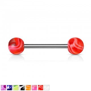 Barbells with marble coloured balls