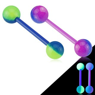 Two tone Glow in the Dark barbell