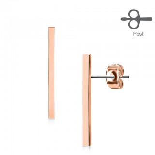 Earrings with 20 mm bar
