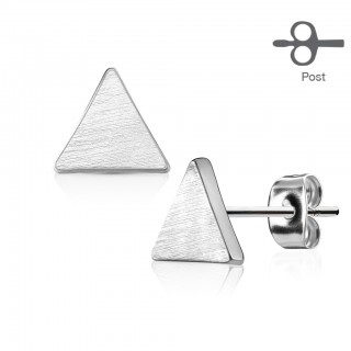 Triangular studded earrings