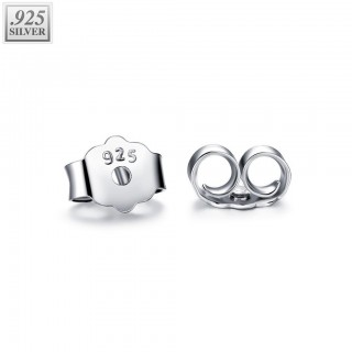 Pair .925 sterling silver earring backings