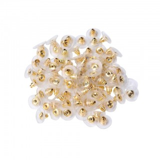 Coloured bullet clutch earring backs in 10 pack