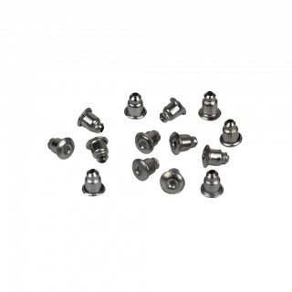 Hematite earring bullet backs in 10 pack