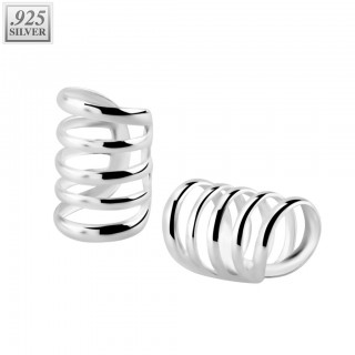 Quintuple fake .925 sterling silver helix piercing