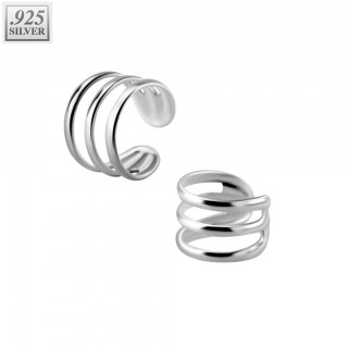 Triple fake .925 sterling silver helix piercing
