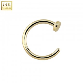 Basic nose ring of solid 14 kt. yellowgold