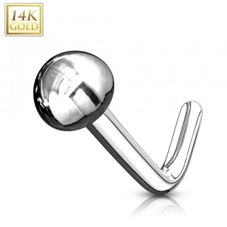 14 Kt. gold stud nosepiercing with dome
