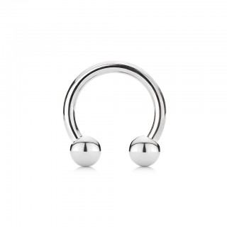 Round beaded circular barbell of steel