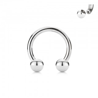 Internally threaded basic steel horseshoe barbell