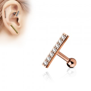 Earring with 12 mm straight bar