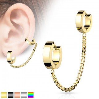 Cartilage chain with small and bigger click ring