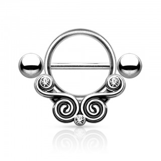 Double twist nipple bar
