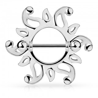 Luxurious classic sun nipple bar shield