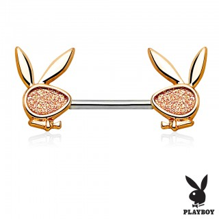 Nipple bar with glittering Playboy Bunny