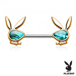Abalone adorned nipple bar Playboy Bunnies