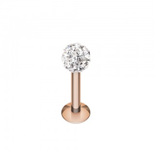 Rose gold labret with coloured ferido stone