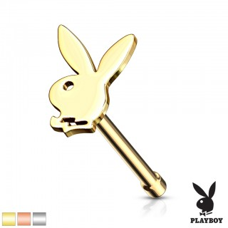 Cute playboy bunny topped nose bone piercing