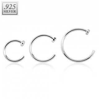 Basic sterling silver nose ring