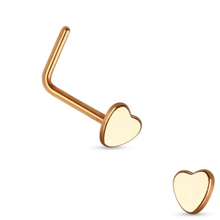 Nose stud with heart