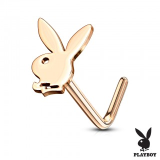 Cute coloured playboy bunny topped nose stud