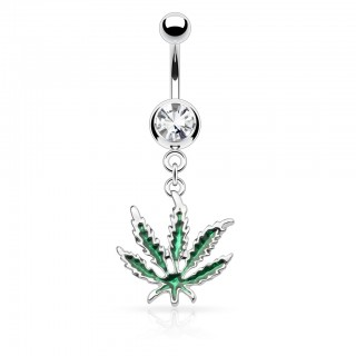 belly bar with green pot leaf