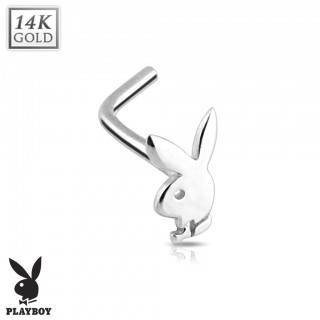 14 Kt. gold nose piercing with Playboy bunny