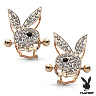 Nipple bar with bejewelled Playboy Bunny
