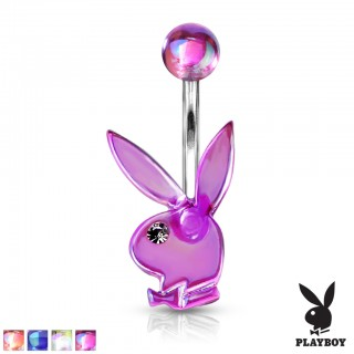 Acrylic topped playboy bunny belly bar with jeweled eyes